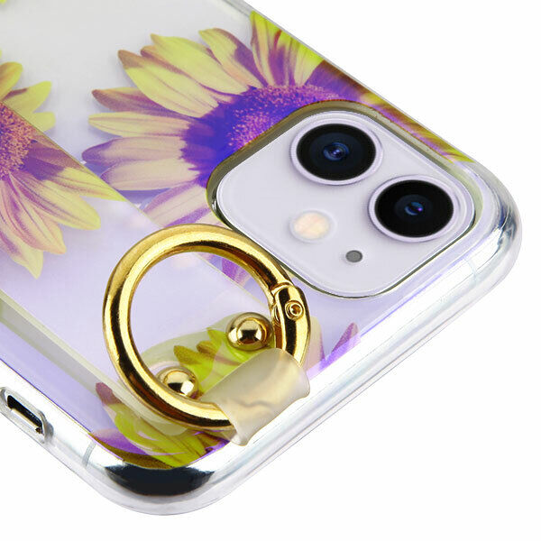 For iPhone 11  Sunflower Hybrid Rubber Case Cover w/ Hand St