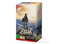 The legend of zelda breath of the wild limited edition. Boxed sealed