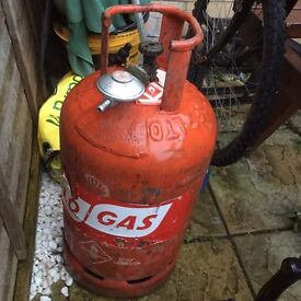 Gas bottle for BBQ/Garden heater + connector £15