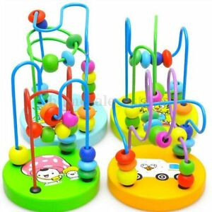 1PC-New-Children-Kids-Baby-Colorful-Wooden-Mini-Around-Beads-Educational-Toy