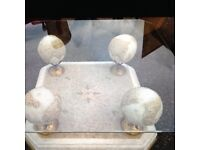 Coffee table glass/marble / stone big £140