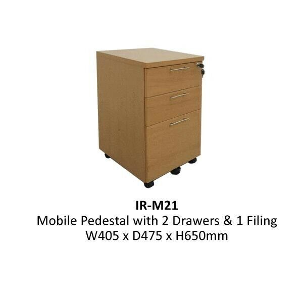 2+1 Drawers Wooden Mobile Pedestal for sale at amazing price