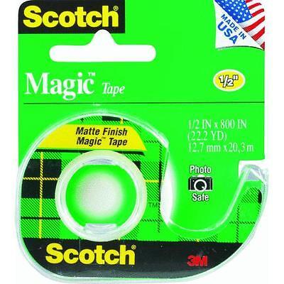144 Pk 3m 12 X 800 Scotch Magic Transparent Tape Wdispenser 119