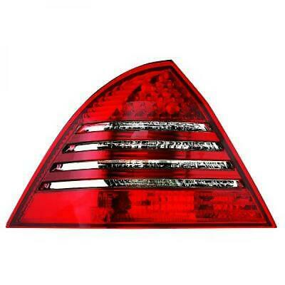 Rückleuchten Set für Mercedes C-Klasse W203 04-07 LED Klarglas/Rot-Weiss Limo