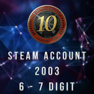 STEAM ACCOUNT OLD - 2003 - 6-7 Digit - 17 Years -CSGO...