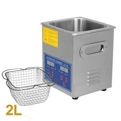 Professional 2l Stainless Steel Ultrasonic Cleaner Heater Timer Bracket Jps-10a