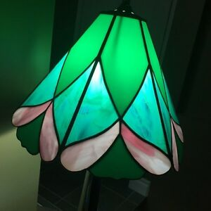 Handcrafted Vintage Stained Glass Lamp Shade