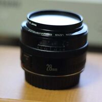 Canon EF 28mm f2.8 with the box