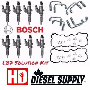 2001-2004.5 GM 6.6L Duramax LB7 OEM Bosch Solution Injector Kit.