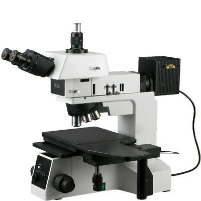 Amscope 50x-1500x Brightfield Darkfield Polarizing Metallurgical Microscope