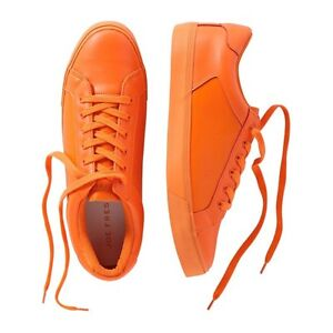 MEN'S LEATHER RUNNERS IN ORANGE~SIZE 10 New in its box!