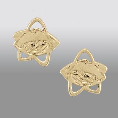 14k Yellow Gold Dora - Nickelodeon Dora the Explorer 14K Yellow Gold Stud Earrings