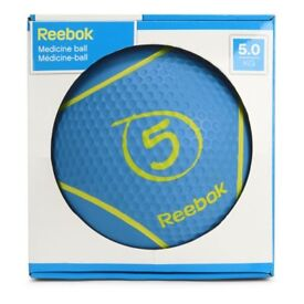Reebok 5kg medicine ball / slam ball, new condition. Weights, gym, exercise, boot camp