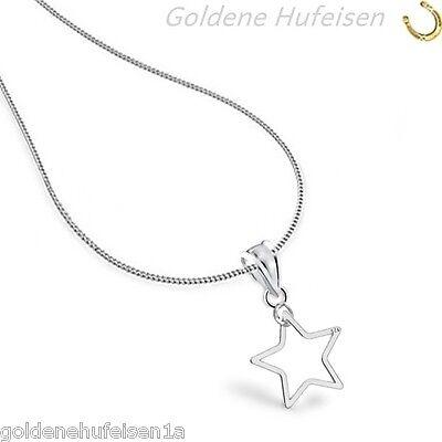 Stern KETTE mit ANHÄNGER 925 Echt Silber Geschenkidee z-231*