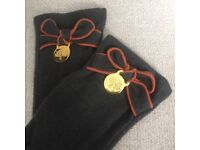 Stunning Grey/Khaki & Cinnamon Mulberry Wool Mix Gloves