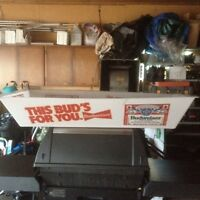 Budweiser pool table fluorescent light cover