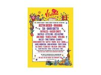 V festival tickets x2 weekend passes Weston park