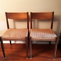 2 Frem Rojle Teak Chairs by Poul Volther  Mid Century Modern