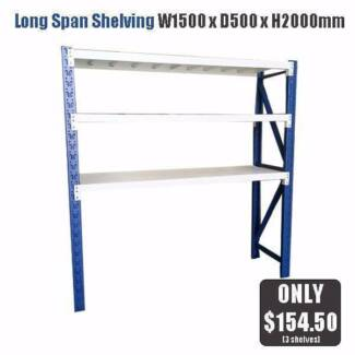 Shed Garage Storage Long Span Steel Shelving from