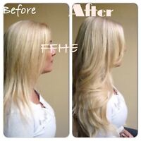 **CERTIFIED HAIR EXTENSIONS!!! HOT FUSION MICROLINK TAPE IN!!!
