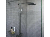 NEW Bristan Quadrato Thermostatic Exposed Bar Shower with Rigid Riser (MIXER SHOWER) RRP: 325 GBP