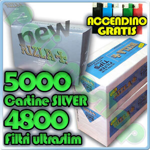 5000-Cartine-SILVER-CORTE-4800-Filtri-ULTRASLIM-5-5mm-RIZLA