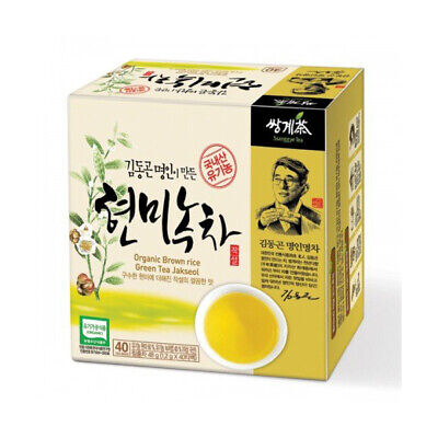 Ssanggye Tea Korean Organic Brown Rice Green Tea 40 tea bags