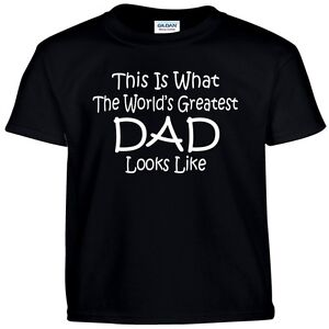 Worlds Greatest DAD Fathers Day Birthday Christmas Gift Funny T Shirt