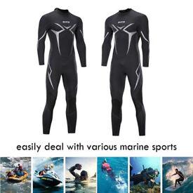 Mens Full Body Wetsuit Neoprene Warm Dive Suit Surfing Diving Kayak Surf Wet suit 3mm S-4XL