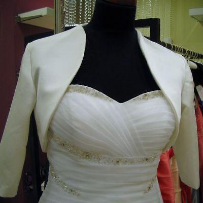 Schwarzer Bolero (NEU Braut Bolero brautjacke jäckchen Creme Jacke schwarz oder weiß)
