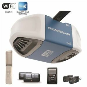 Chamberlain 3/4-HP Wifi  Belt Drive Garage Door Opener Installed