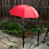 Milano clamp on sun rain umbrella 39 inches