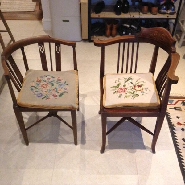 Pair of antique corner chairs - Pair Of Antique Corner Chairs In Stoke Bishop, Bristol Gumtree