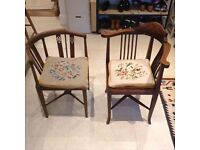 Pair of antique corner chairs