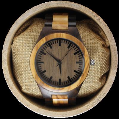 Ebony and zebra Wood watch, personalized watch, men watch, wood watch