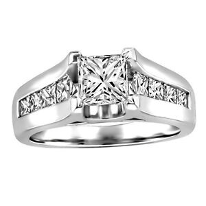 14 kt White Gold 0.50 ctw Princess Cut Diamond Engagement Ring