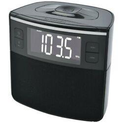 Sylvania SCR1986BT-AS Bluetooth Clock Radio Auto-Set Dual Alarm & USB Charging