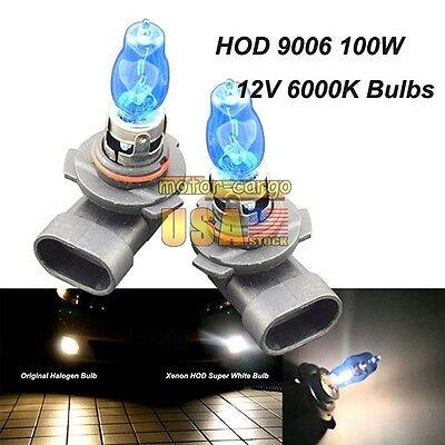 9006/HB4 12V 6000K 100W Super White HOD Halogen Lamp Headlight Fog Light Bulbs