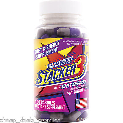 Buy 5 Get 1 Free  Stacker3  3 Not 2  100 Capsules Bottle Weight Loss   Energy 1