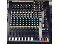 Soundcraft MFXi 8 - 12 channel mixer, onboard Lexcion FX. LIKE NEW.