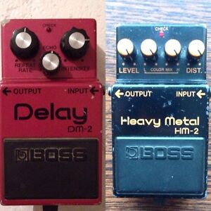 Vintage Boss pedals made in Japan