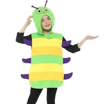 Kinder Caterpillar Kostüm Kostüm Kinder Käfer Insekten Outfit von Smiffys