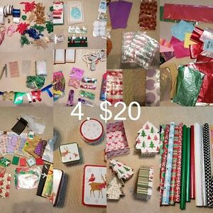 Lot of Gift Wrap, Ribbons, Bags, etc.