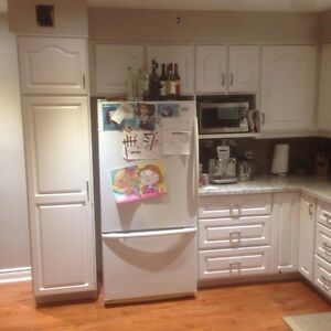 Oak pantry get a great deal on a cabinet or counter in for Oak kitchen units for sale