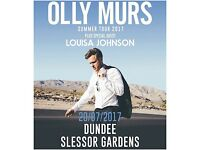 OLLY MURS DUNDEE TICKETS