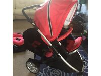 Britax b dual double pushchair