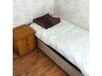 A single bedroom with the rent of £250,£250 deposit and £10 for Internet per month