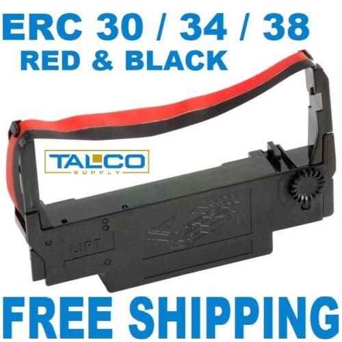 (36) EPSON ERC 30 / 34 / 38 BLACK & RED INK POS PRINTER RIBBONS  ~FREE SHIPPING~