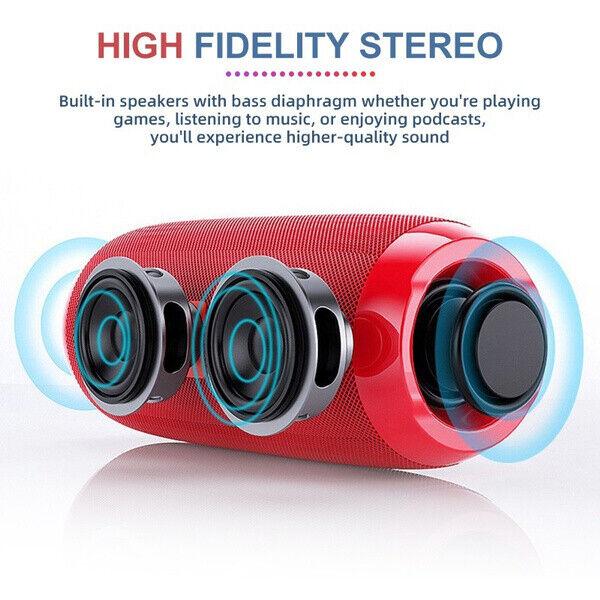 Bluetooth Speaker Wireless Waterproof Outdoor Stereo Bass US