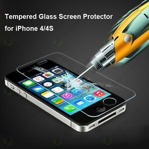 Écran protecteur screen protector tempered glass Iphone 4 4S